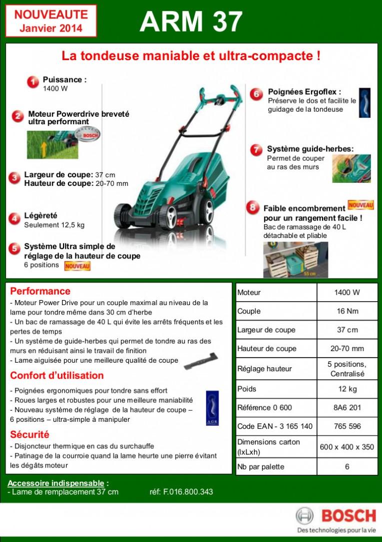 Tondeuse électrique filaire – Bosch ARM 37