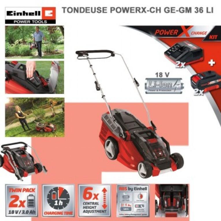 Tondeuse électrique sans fil – Einhell GE-CM 36 Li